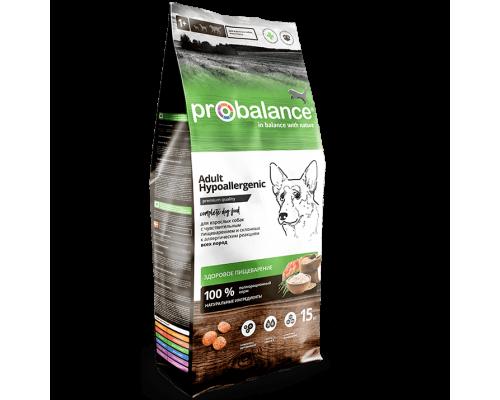 Корм ПроБаланс для взрослых собак всех пород Гипоаллердженик 15 кг (ProBalance Hypoallergenic)