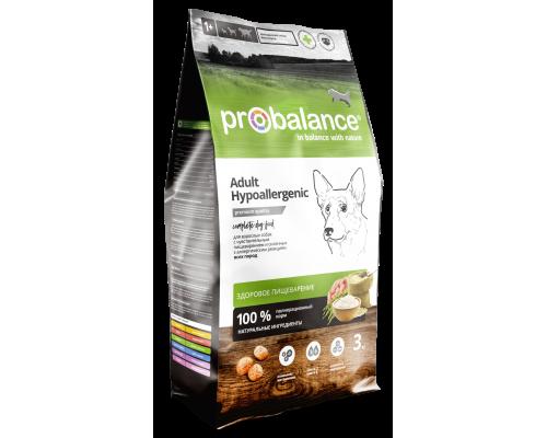Корм ПроБаланс для взрослых собак всех пород Гипоаллердженик 3 кг (ProBalance Hypoallergenic)