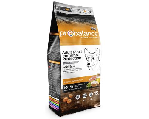 Корм ПроБаланс для взрослых собак крупных пород 15 кг (ProBalance Immuno Adult Maxi)